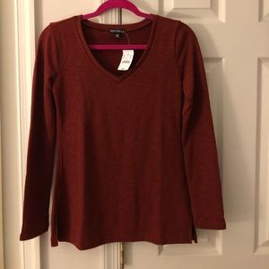 J Crew V Neck Tunic Sweatshirt